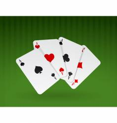 cards on green background vector image vector image