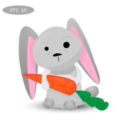 cartoon rabbit vector image vector image