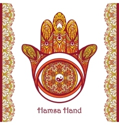 Colored hamsa hand vector