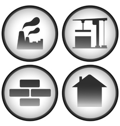 Construction set with industrial icons vector