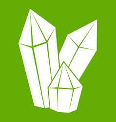 diamonds icon green vector image