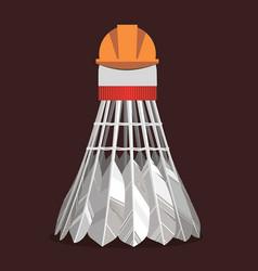 Experienced badminton shuttlecock vector