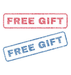 free gift textile stamps vector image vector image