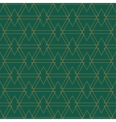 Golden seamles pattern green background vector