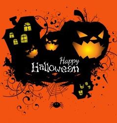 Halloween grunge card or background vector image vector image