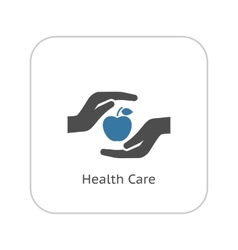 Health Care Icon Flat Design vector image vector image
