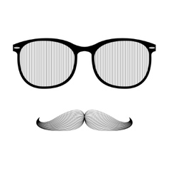 Hipster Sunglasses and Mustaches vector image