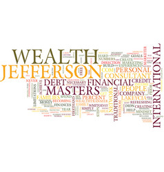 Lakeycia jefferson on wealth masters text vector