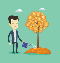 Man watering money tree vector