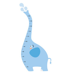 meter wall elephant vector image vector image