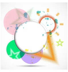 Modern Design Circle template background vector image vector image