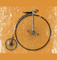 Penny farthing sepia grunge vector