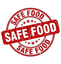 Safe food red grunge round vintage rubber stamp vector