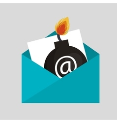 Security bomb email envelope icon vector