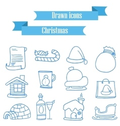 Set of holiday element icons vector
