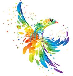 splash fantasy bird vector image