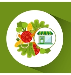 store fresh vegetables menu vector image