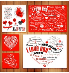 Valentine letterpress card vector