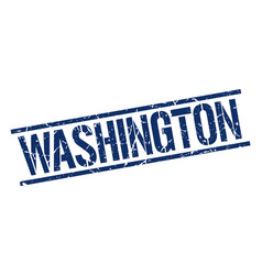 Washington blue square stamp vector