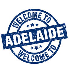 Welcome to adelaide blue stamp vector