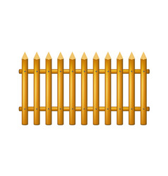 wooden fence in vintage design vector image vector image