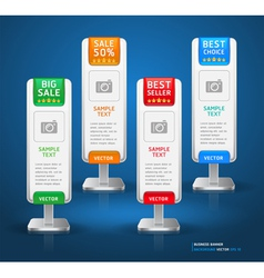 Business stand display banner and card background vector