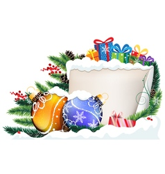 Christmas presents and baubles vector