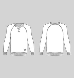 raglan long sleeve t-shirt vector image