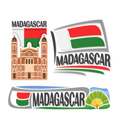 Logo for madagascar vector