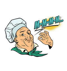 Cook gesture of delicious sensations vector