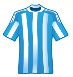 t-shirt of soccer of argentina vector image