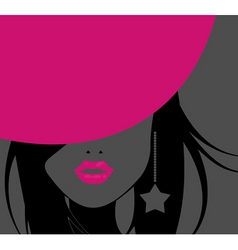 funky girl vector image