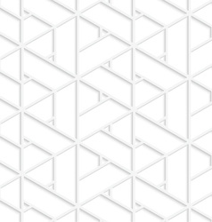 White 3d t triangular grid vector