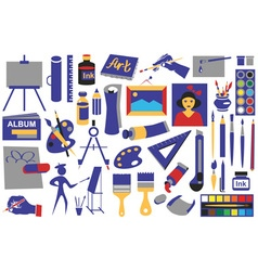 Attributes art icons vector