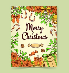 Sketch christmas background vector