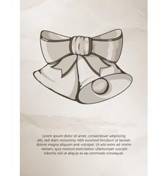 Christmas bells on grunge background Vintage vector image