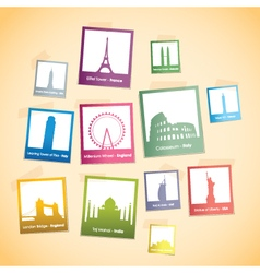 World landmarks cream vector