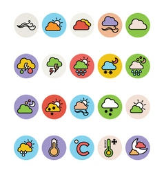 Weather colored icons 1 vector