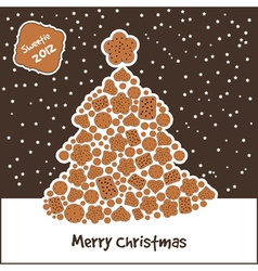 New year tree with cookies vector