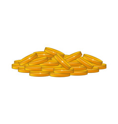 a pile of coins vector image