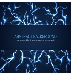 Abstract background with lightnings and text vector