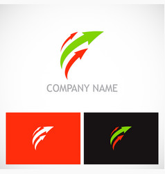 arrow loop colored logo vector image