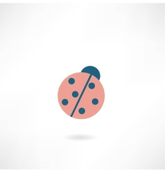 beetle sun icon vector image