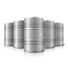 Blank realistic big oil barrels isolated on vector