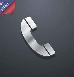 Call icon symbol 3D style Trendy modern design vector image vector image