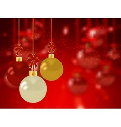 Christmas holiday bright background with ball vector image