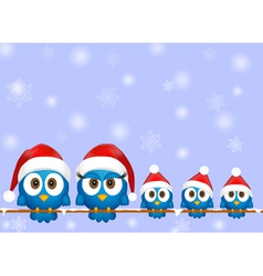 Cute christmas birds vector