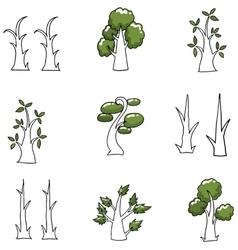 Doodle of simple tree art vector