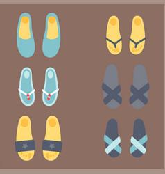 Flip flops design graphic vector