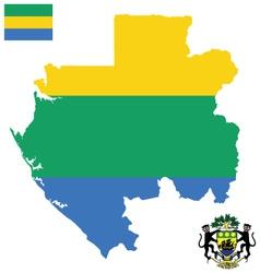 Gabonese Republic Flag vector image